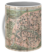 1900 Garnier Pocket Map Or Plan Of Paris France  Eiffel Tower And Other Monuments  Coffee Mug