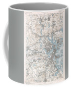 1900 Us Geological Survey Of Boston And Vicinity Massachusetts Coffee Mug