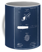 1902 Baseball Bat Patent In Blue Coffee Mug