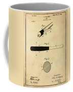 1902 Baseball Bat Patent In Sepia Coffee Mug