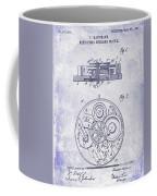 1908 Pocket Watch Patent Blueprint Coffee Mug