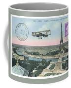 1911 Paris Eiffel Tower Colorized Postcard Coffee Mug