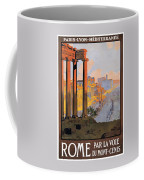 1920 Paris To Rome Train Travel Poster Coffee Mug
