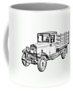 1929 Chevy Truck 1 Ton Stake Body Drawing Coffee Mug