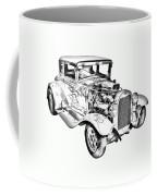 1930 Model A Custom Hot Rod Illustration Coffee Mug