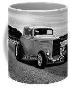 1932 Ford Coupe 'black And White' Coffee Mug