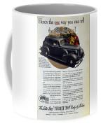 1936 Buick Century Classic Ad Coffee Mug