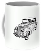 1936 Ford Phaeton Convertible Illustration  Coffee Mug