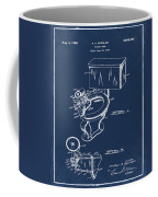 1936 Toilet Bowl Patent Blue Coffee Mug