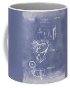 1936 Toilet Bowl Patent Blue Grunge Coffee Mug