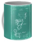 1936 Toilet Bowl Patent Green Coffee Mug