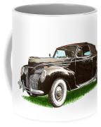 1937 Lincoln Zephyer Coffee Mug