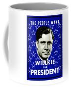 1940 Willkie For President Coffee Mug