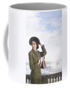 1940s Woman At The Seaside  Coffee Mug