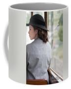1940s Woman Making A Journey On Public Transport Coffee Mug