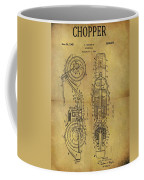 1942 Chopper Motorcycle Patent Coffee Mug