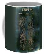 1942 Grunge Chopper Motorcycle Patent Coffee Mug