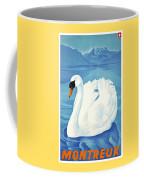 1943 Montreaux Switzerland Travel Poster Coffee Mug