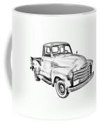 1947 Chevrolet Thriftmaster Pickup Illustration Coffee Mug