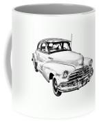 1948 Chevrolet Fleetmaster Antique Car Illustration Coffee Mug