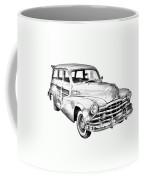 1948 Pontiac Silver Streak Woody Illustration Coffee Mug