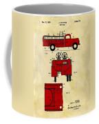 1950 Red Firetruck Patent Coffee Mug