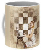 1950s Fictional Pinup Writer Coffee Mug