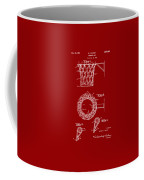 1951 Basketball Net Patent Artwork - Red Coffee Mug by Nikki Marie Smith