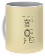 1951 Basketball Net Patent Artwork - Vintage Coffee Mug by Nikki Marie Smith