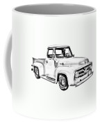 1955 F100 Ford Pickup Truck Illustration Coffee Mug
