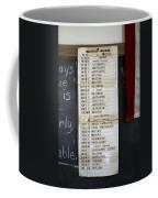 1956 One Room School House Recitation Program Coffee Mug