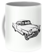 1956 Sedan Deville Cadillac Car Illustration Coffee Mug
