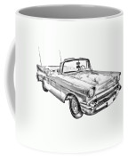 1957 Chevrolet Bel Air Convertible Illustration Coffee Mug