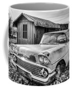 1958 Chevy Del Ray In Black And White Coffee Mug