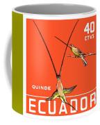 1958 Ecuador Hummingbirds Postage Stamp Coffee Mug