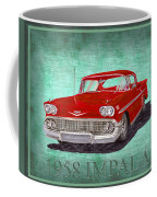 1958 Impala By Chevrolet Coffee Mug