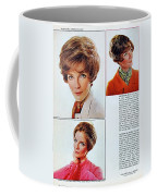 1960 70 Stylish Female Hair Styles Brown Mature Lady Coffee Mug