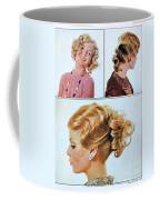 1960 70 Stylish Female Hair Styles Golden Blond Coffee Mug