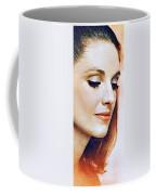 1960 70 Stylish Lady In Red Coffee Mug