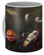 1960s Outer Space Adventure Coffee Mug