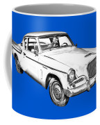 1961 Studebaker Hawk Coupe Illustration Coffee Mug