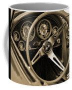 1963 Chevrolet Corvette Steering Wheel - Sepia Coffee Mug