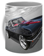 1963 Corvette Stingray Split Window In Black And Red Coffee Mug