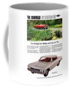 1966 Chevrolet Chevelle Turbo-jet V8's Coffee Mug
