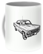 1966 Chevy Chevelle Ss 396 Illustration Coffee Mug