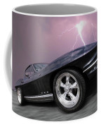 1966 Corvette Stingray With Lightning Coffee Mug