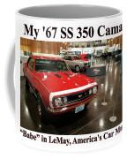 1967 Ss 350 Camaro Scharf Coffee Mug