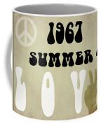 1967 Summer Of Love Newspaper Coffee Mug