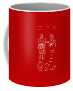 1968 Hard Space Suit Patent Artwork - Red Coffee Mug
