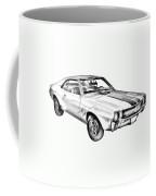 1969 Amc Javlin Car Illustration Coffee Mug
